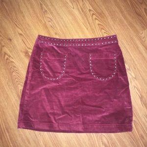 Dresses & Skirts - MAROON VELVET SKIRT